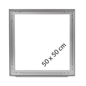 Aluminum frame for fabric displays DOUBLE-SIDED 50x50 cm on profile 49 mm