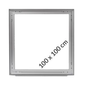 Aluminum frame for fabric displays DOUBLE-SIDED 100x100 cm on profile 49 mm