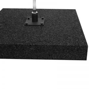 Rubber base 15kg 50x50cm for feather flags
