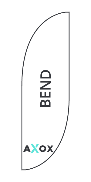 Template for feather flag Bend - Axox Media