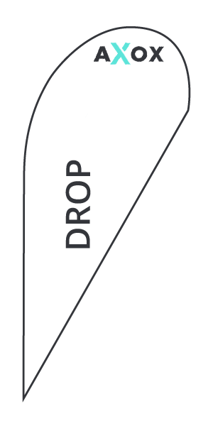 Template for feather flag Drop - Axox Media